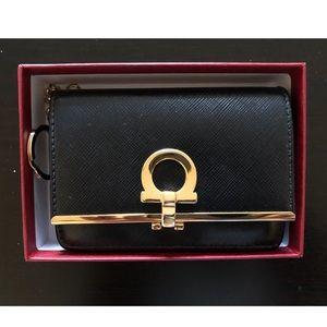 Salvator Ferragamo Card and Key Holder - Black